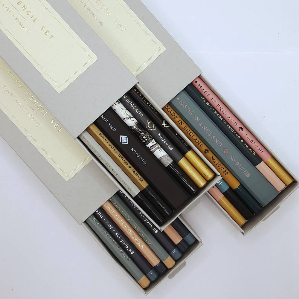 There's a selection of beautiful pencil sets to choose from