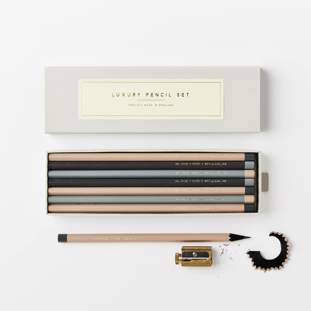 Luxury black wood pencil set from Katie Leamon