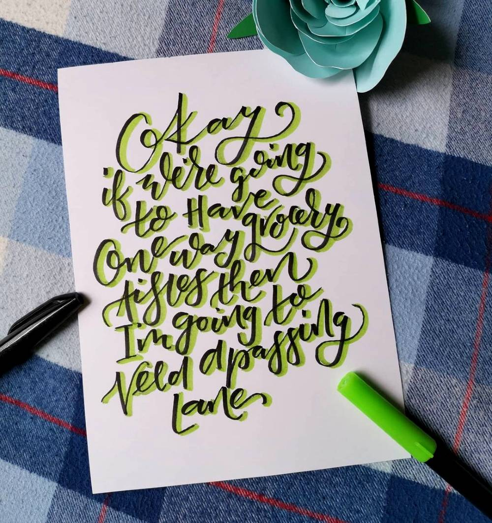 One of Katie's Covid Calligraphy series