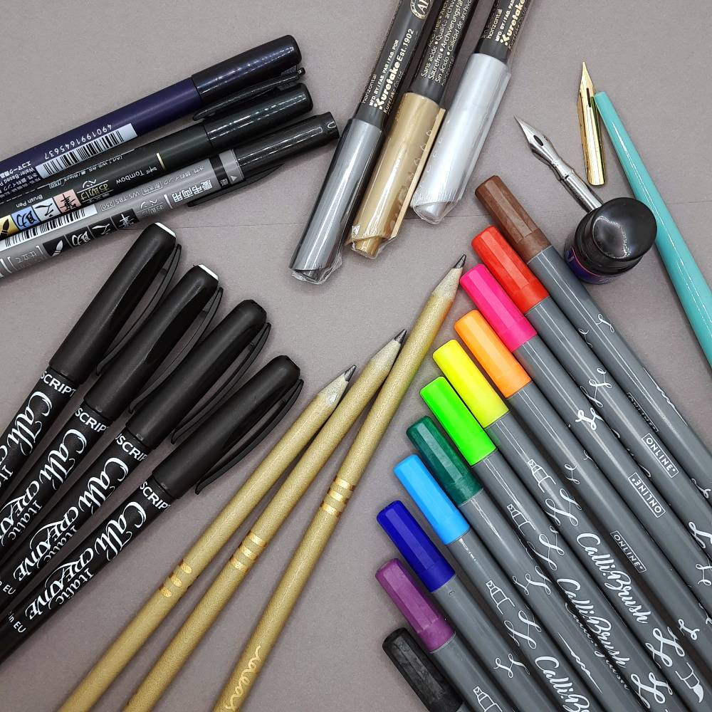 Win all these pens in the Pen Pusher Advent Lettering Challenge