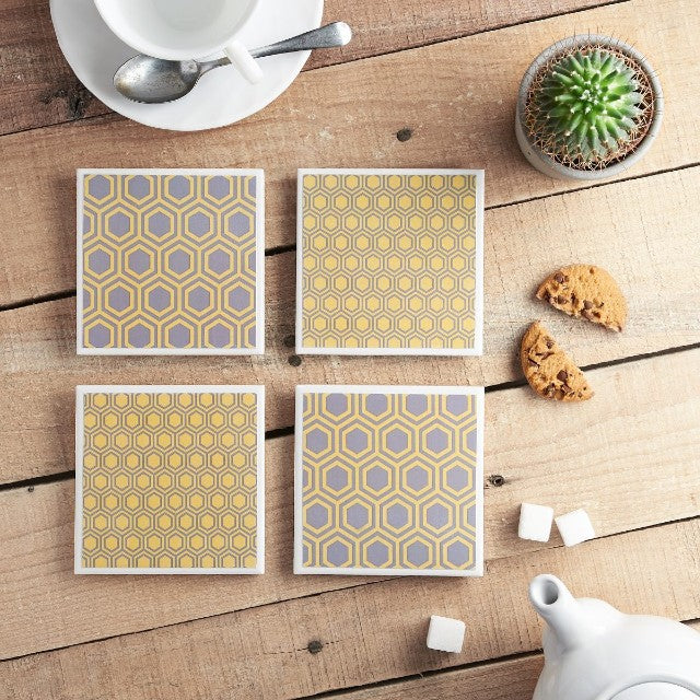 Honeycomb Coaster set from Yellow Room Designs