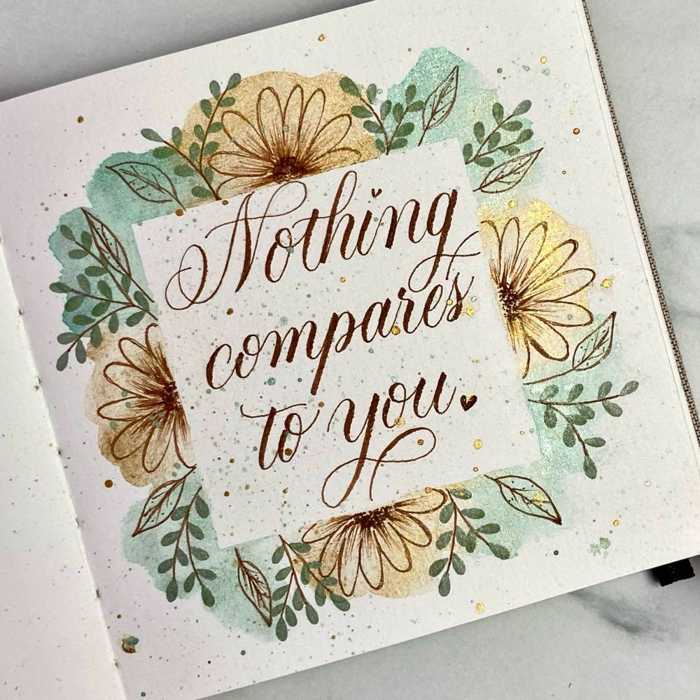 Get romantic with modern calligraphy