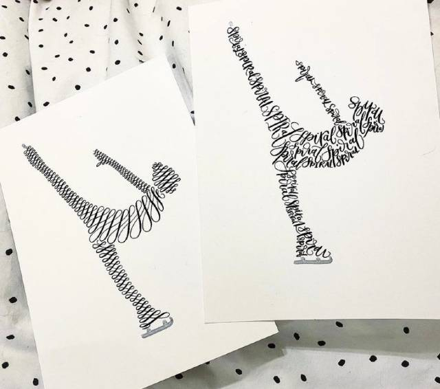 Jessamin loves to create Calligrams - calligraphy within a shape