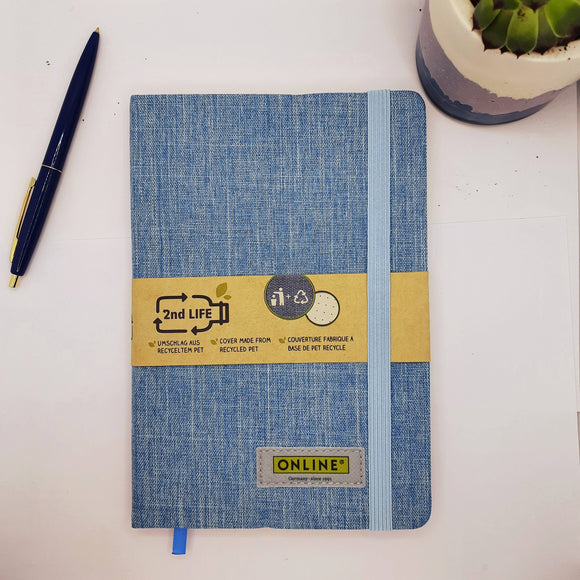 2nd Life recycled A5 dot grid notepad