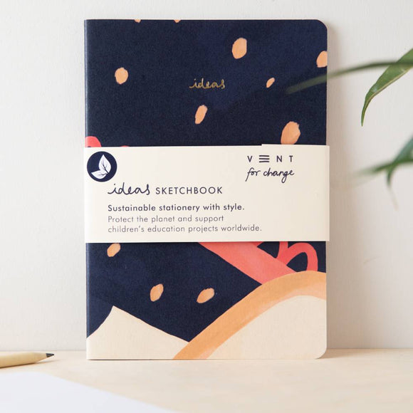 VENT For Change IDEAS - plain 100% recycled A5 notebook - 2 colours available