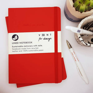VENT For Change Make a Mark lined A5 notebook - 6 colours available
