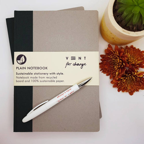 VENT For Change WRITE - plain A5 notebook
