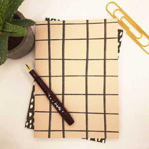 Kinshipped Grid A5 Notebook