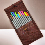 ONLINE Calli.Brush brush markers - 11 pen set, brights in bamboo case