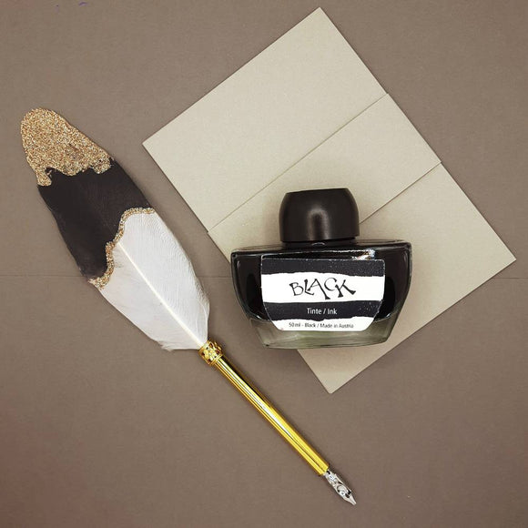 ONLINE calligraphy feather dip pen in gift box