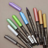 Kuretake Zig Fudebiyori metallic brush marker - 9 colours available