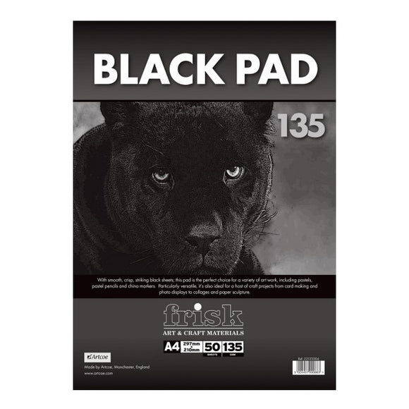 Frisk A4 Black Pad 135 - 50 sheets