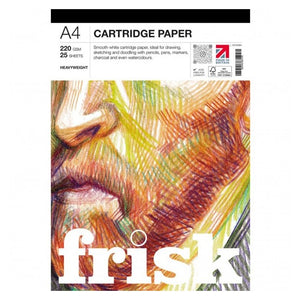 Frisk A4 Cartridge Paper Pad - 220gsm 25 sheets
