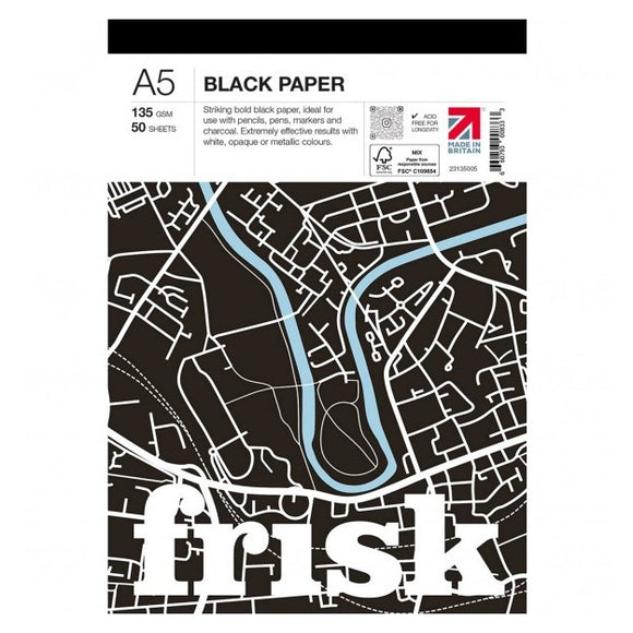 Frisk A5 Black Pad 135 - 50 sheets