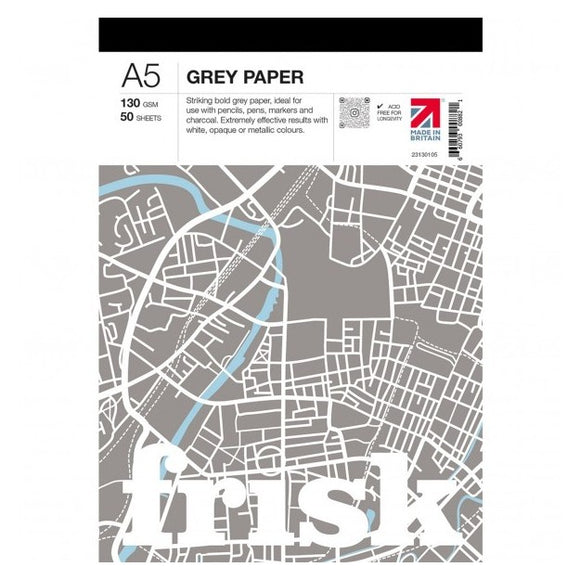 Frisk A5 Grey Pad - 130gsm 50 sheets