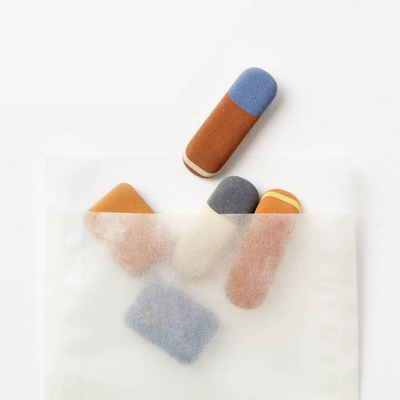 Katie Leamon Pebble Eraser Set