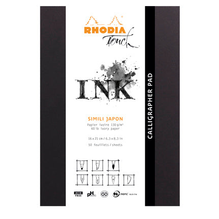 Rhodia Touch A5 Calligrapher Pad - 50 sheets