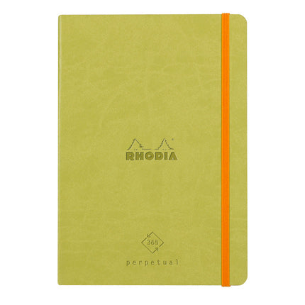 Rhodia Leatherette A5 Perpetual Diary - Anise