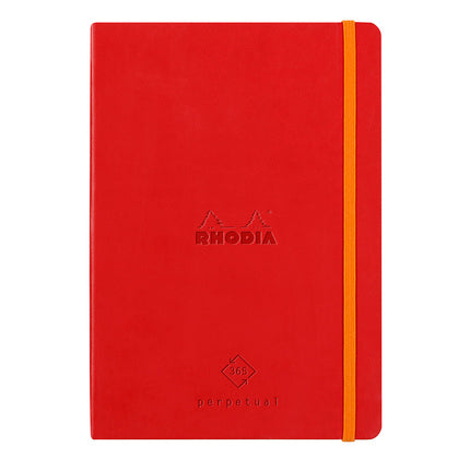 Rhodia Leatherette A5 Perpetual Diary - Poppy