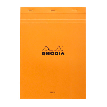 Rhodia A4 Stapled Plain Pad - orange