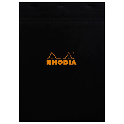 Rhodia A4 Stapled Square Grid Pad - black