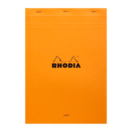 Rhodia A4 Stapled Lined Pad - orange