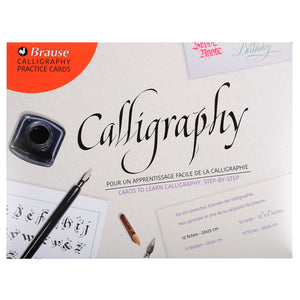 Brause Introduction to Calligraphy Practice Cards