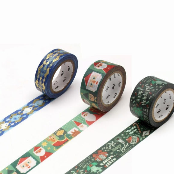 mt Christmas 2020 washi tape A - 3 rolls