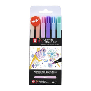 Sakura Koi Colouring Brush Pen - Set of 6, Sweets