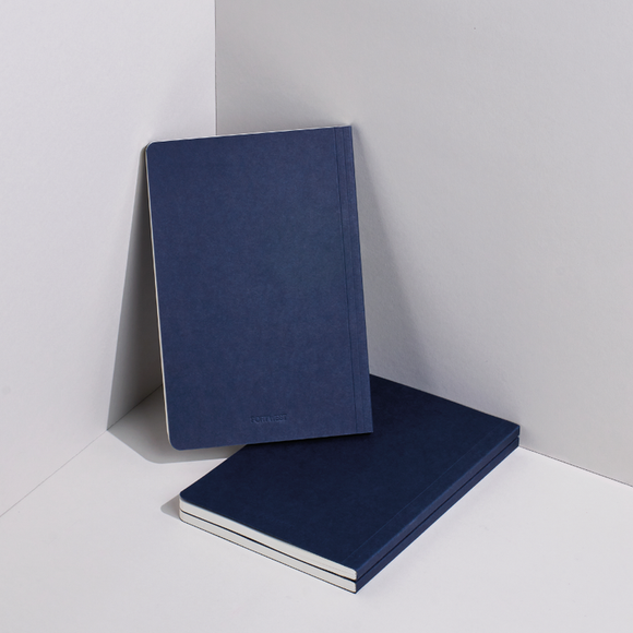 Port West A5 / 02 eco-friendly vegan notebook - blue