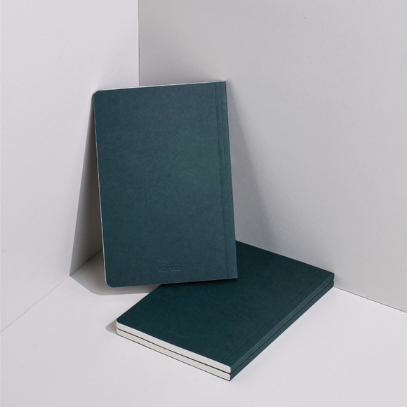 Port West A5 / 02 eco-friendly vegan notebook - green