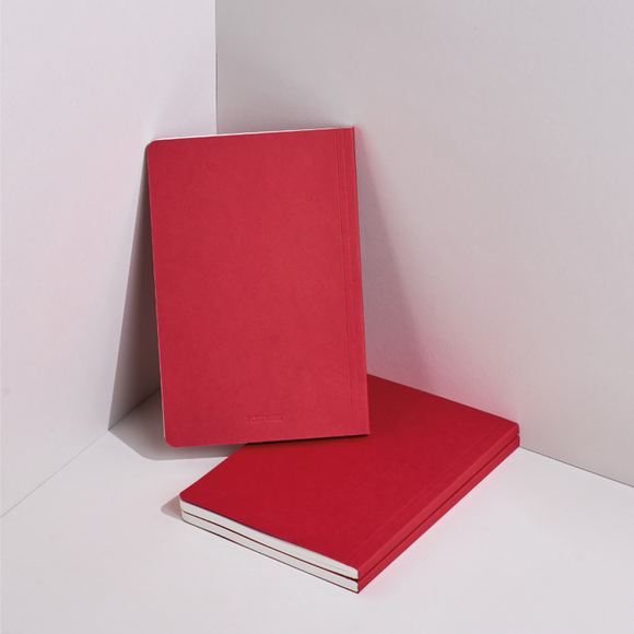 Port West A5 / 02 eco-friendly vegan notebook - red