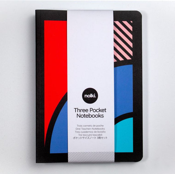 Nolki Set of Three A6 Pocket Notebooks - Tokyo
