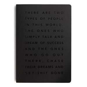 MiGoals A5 Get Shit Done Manifesto notebook - 4 colours available