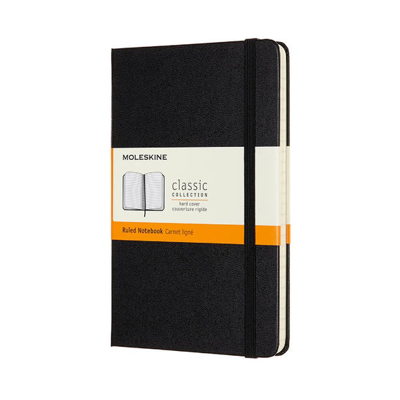 Moleskine Pocket Notebook ruled with hard cover - 2 colours available
