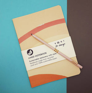 VENT For Change IDEAS - lined 100% recycled A5 notebook - 2 colours available