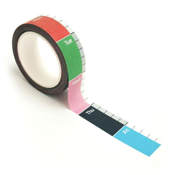 Nolki Weeks on a Roll washi tape