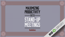 Charger l'image dans la galerie, Maximizing Productivity With Stand-Up Meetings