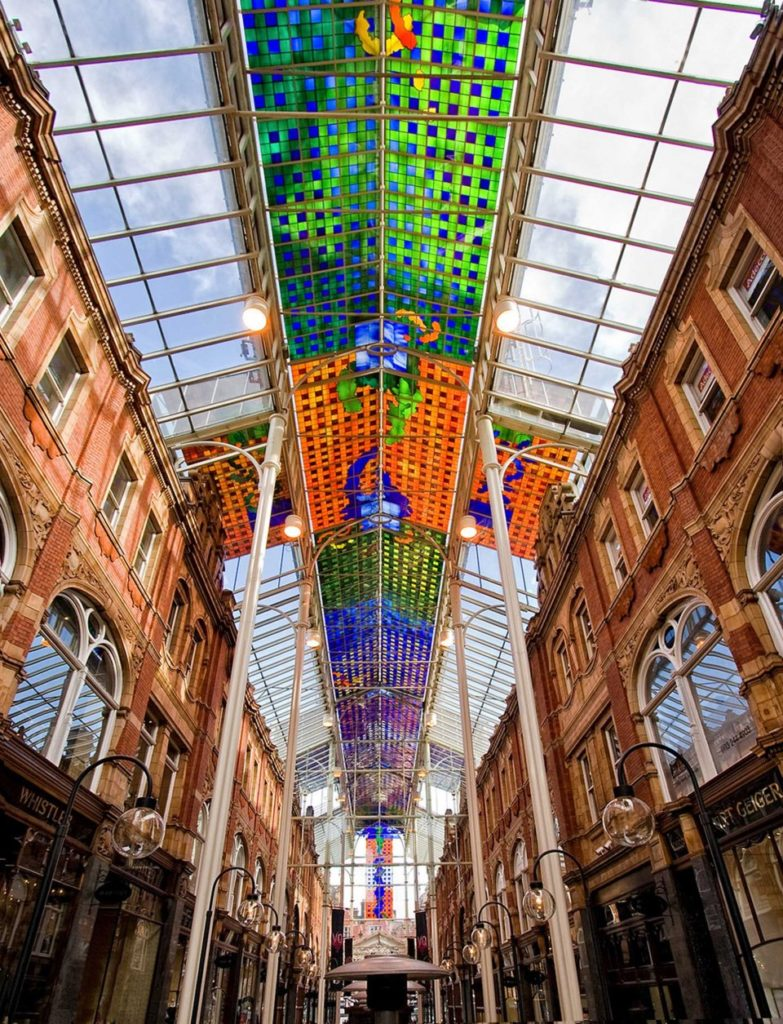 Leeds Victoria Stained Glass Roof