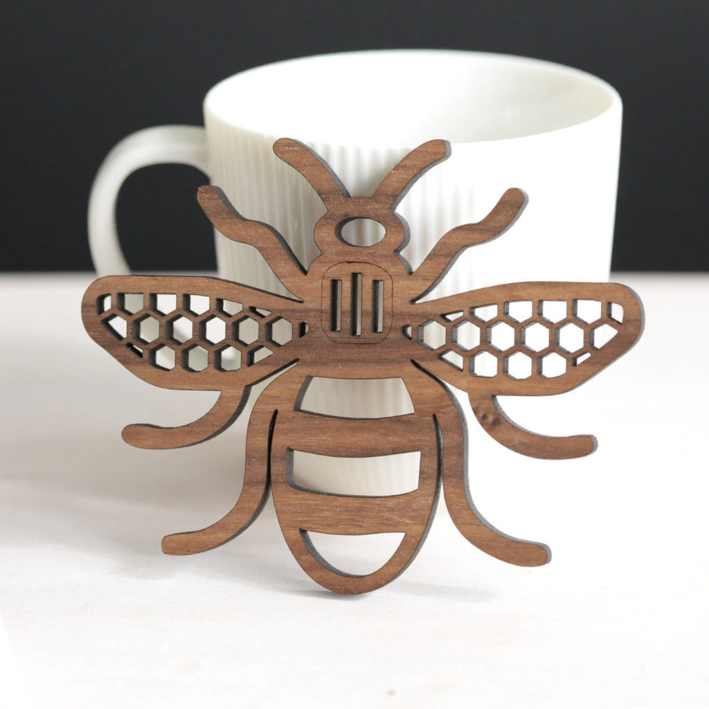 Manchester Bee Coaster by Jessica6Designs