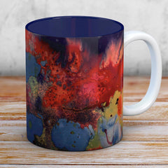 Becci Watercolour & Ink Mug With A Navy Blue Interior