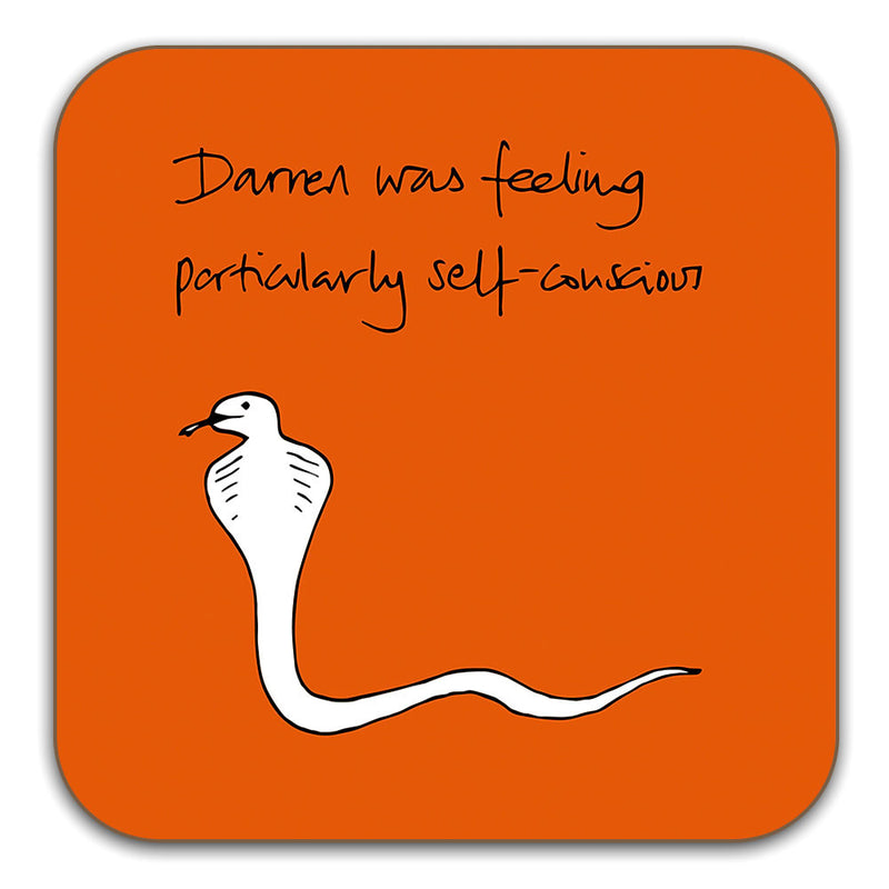 Funny Snake Coaster - Darren was feeling particularly self conscious