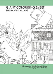 An Enchanted Village - A2 Size Colouring Poster