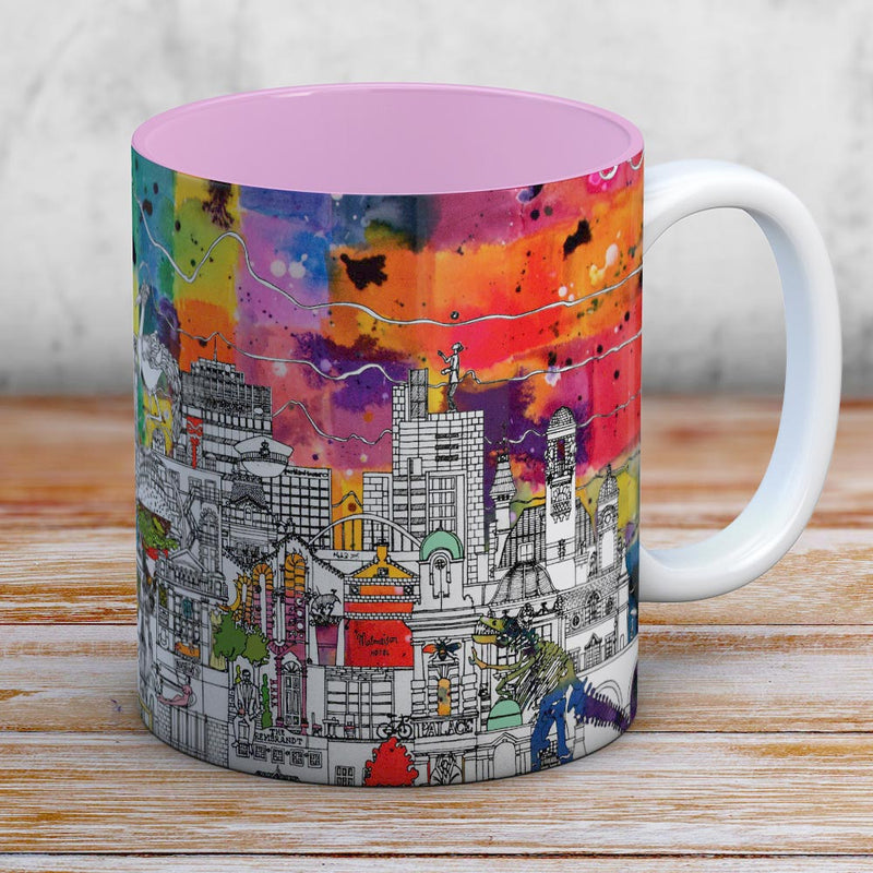 Manchester skyline coffee mug