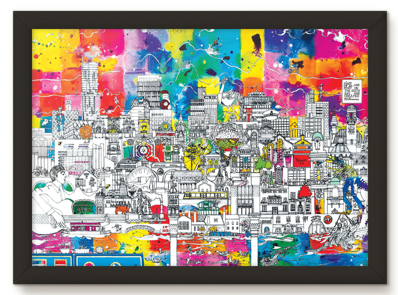 MANCHESTER SKYLINE PRINT - MUSIC EDITION