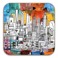 New York Skyline Coaster - colour