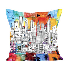 New York Skyline Cushion - In Colour