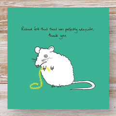 Richard felt that tinsel was perfectly adequate, thank you - 3 Greeting Cards
