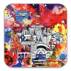 Vegas Illustration - Drinks Coaster
