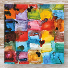 Watercolour Blocks - Watercolour & Ink 3 Blank Greeting Cards
